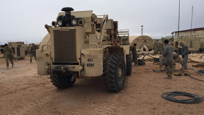The 1st Armored Division headquarters and the 1st Armored Division Sustainment Brigade recently went through the Warfighter exercise at Fort Bliss. The division headquarters will deploy to Iraq this summer, and elements of the Sustainment Brigade went to Afghanistan this spring.
