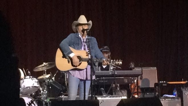 "Dwight Yoakam performed April 7 at Memorial Auditorium, churning out a string of hits, from ""Guitars, Cadillacs"" to ""Little Ways"" and ""Turn It On, Turn It Up, Turn Me Lose."""