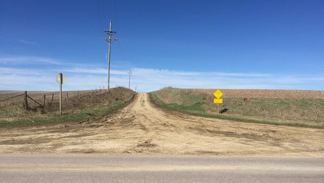 230th Street in rural Iowa County is now a dirt road. Some area residents want the road upgraded to gravel.