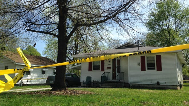 Police say they are investigating a double shooting at a home on Calhoun Street in Springfield.