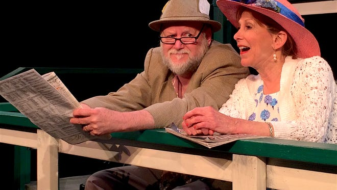 """Juergen Tossmann and Rita Hight in """"I Bet on the Nag"""" at Bunbury Theatre Company."""