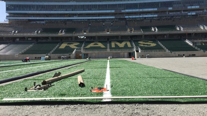 CSU football getting new playing field at no cost at 2-year-old Canvas Stadium