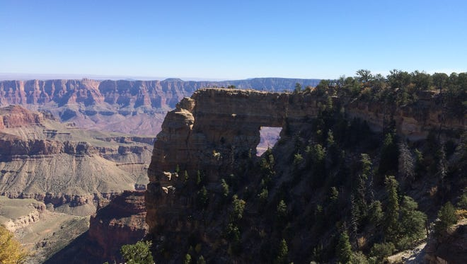 The view from Cape Royal on the North Rim of Grand Canyon National Park.