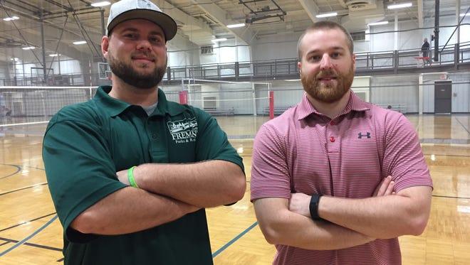New Fremont Recreation Center programmers Nate Kerr, left, and Ethan Binger seek to expand programs for the summer recreation season.