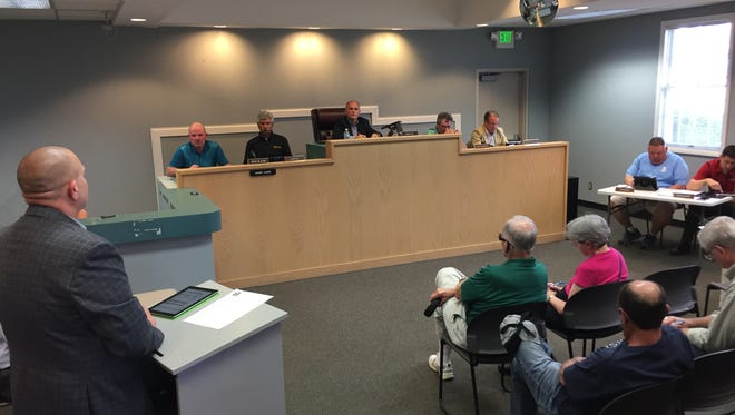 The Yorktown Town Council conducts business on April 18 at the Yorktown Town Court.
