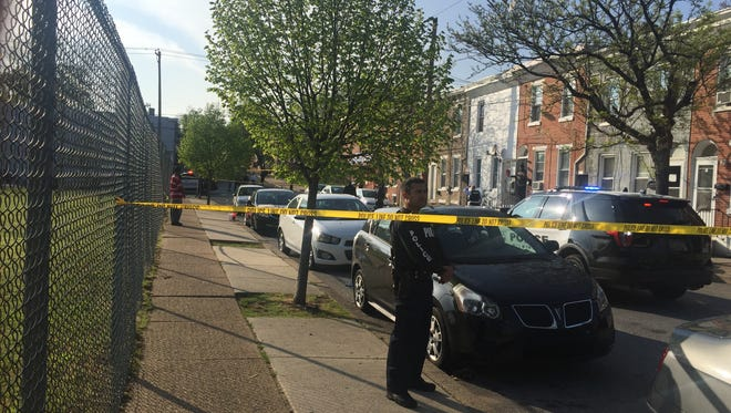Wilmington police officers working in the 500 block of N. Madison St. were alerted to a possible shooting victim in the area of Seventh and Monroe streets on Friday, April 21, 2017.