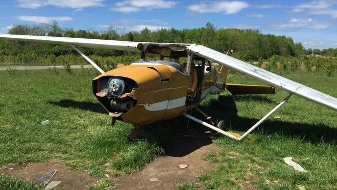The airplane in the undeveloped land behind Blue Ash's Summit Park will be removed once Al. Neyer begins development.