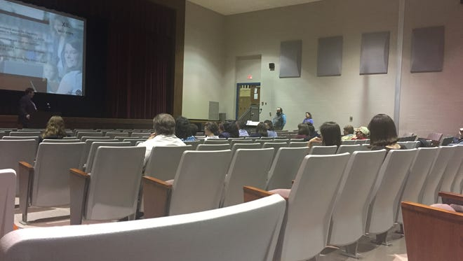 About 75 people attended a West Shore school board meeting at Crossroads Middle School Monday, April 24, 2017. Junior Gonzales - jgonzalez@yorkdispatch.com