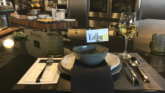 A place setting at Plum's Cooking Company by Simply Perfect, at 8th and Railroad Center in Sioux Falls.