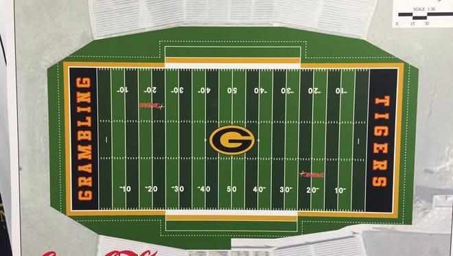 New turf is part of Grambling's multi-million dollar renovations at Eddie Robinson Stadium, the school announced Thursday.