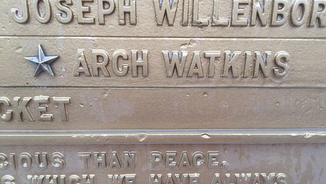 Arlington Heights man works to restore WWI veterans star. Now he wants to know more about Arch Watkins and the other names that appear on the Arlington Heights WWI Veterans Memorial.