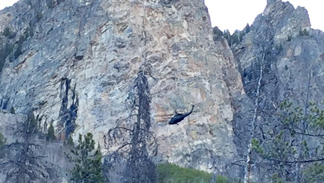 A Tennessee man had to be airlifted Saturday after a boulder fell on his leg Friday night on the west side of Rocky Mountain National Park.