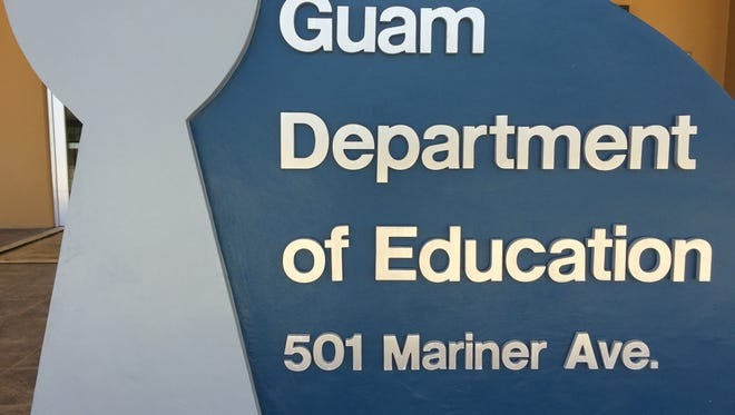 A sign in front of a new Guam Department of Education building at Tiyan that has yet to get an occupancy permit. GDOE extended by another six months its contract with Alvarez & Marsal to manage some $50 million to $60 million in federal education grants, as part of conditions of GDOE's high-risk grantee status.