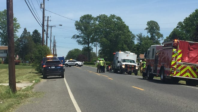 South Jersey Gas and firefighters were called to a gas leak on Becker Drive, near Oak Road, in Vineland Tuesday afternoon.