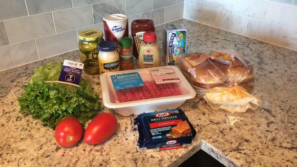 The Shackburger ingredients.