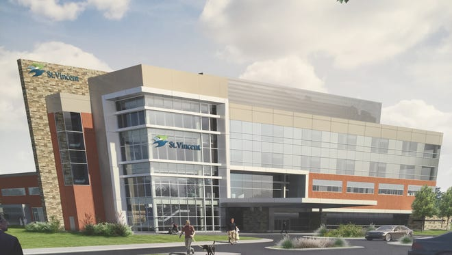 Rendering of the St. Vincent Orthopaedic Hospital, projected to open in 2019.