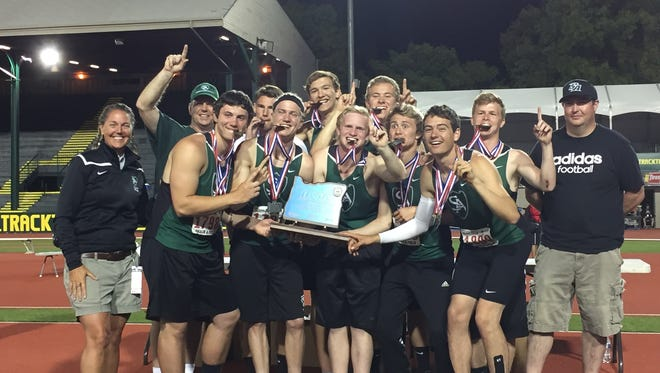 Salem Academy's boys won the Class 3A state championship at the OSAA Class 3A state track and field meet on Friday, May 19, 2017.