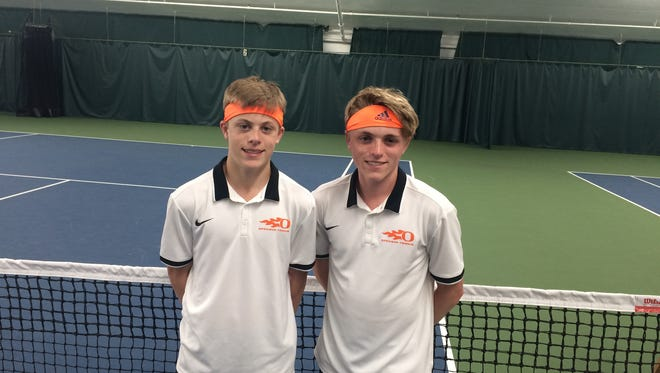 Sprague's doubles team Logan and Judd Blair took third place at this year's OSAA Class 6A tennis state championships.