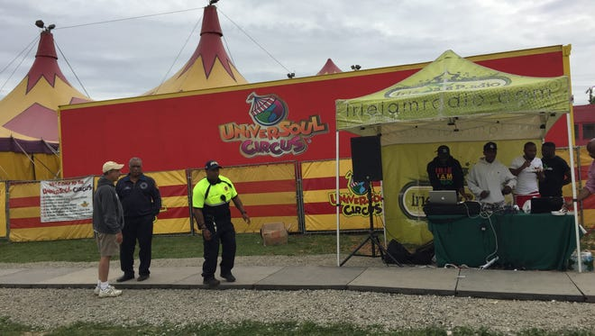 The scene outside the UniverSoul Circus in Mount Vernon, May 20, 2017.