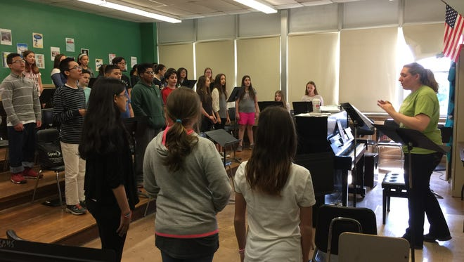 The South Plainfield Middle School Chorus will join with 8,500 students from across the country in a Young American Voices concert on June 1 in Newark.