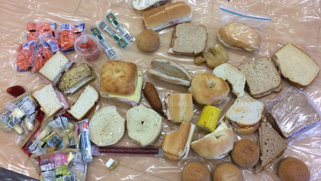 Wasted food found in Ridgewood cafeteria school garbage.