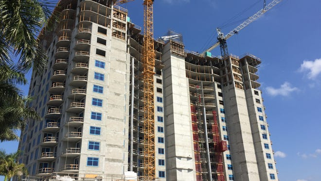 With construction on schedule for completion in 12 months, theRonto Group announced sales continue to surge at the 26-floor, 120-unit Seaglass high-rise tower being built by Ronto within Bonita Bay.