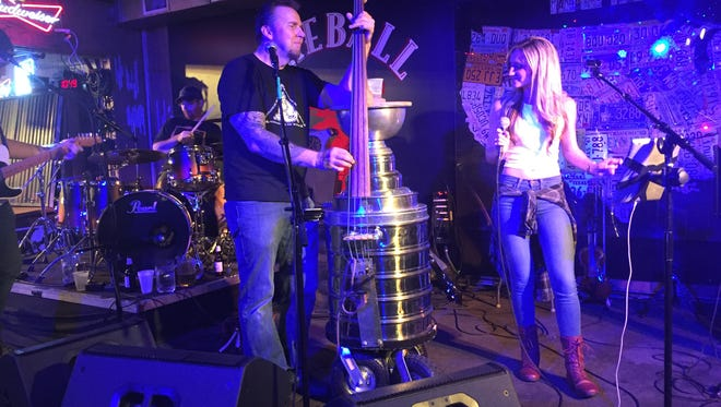 The Stanley Cup bass takes Lower Broadway