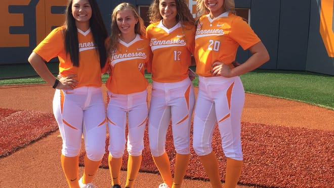 Tennessee's recruiting class that will be arriving in the fall, from left: Ashley Morgan, Brooke Langston, Amanda Ayala, Gabby Sprang.