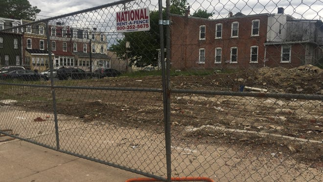 The site of the planned Townhomes at Walt's Way, pictured here on May 26, 2017, has been barely touched since its groundbreaking ceremony in August 2016.