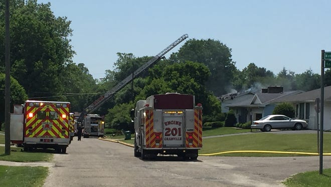 There were no injuries after a fire in a home on the 500 block of Manor Drive in Newark on Saturday.