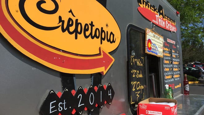 The Crepetopia food truck will be at the Drake Road Farmers Market on Saturdays in Fort Collins.