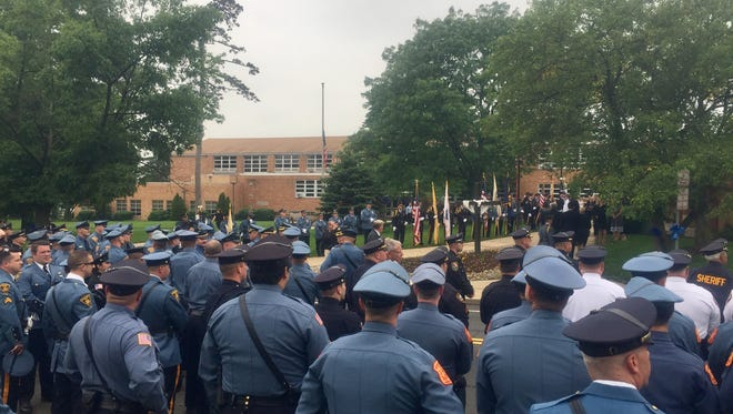 Hundreds of New Jersey police officers attended the Monday, June 5, funeral of Matthew Tarentino, a Summit police officer from Somerville killed in a car crash.