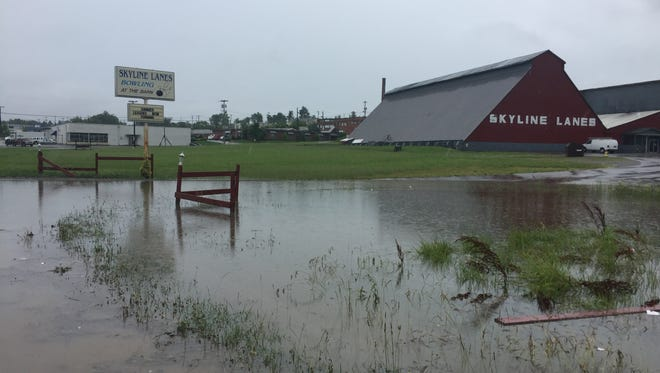 Heavy rain causes flooding during a previous storm in Clarksville.