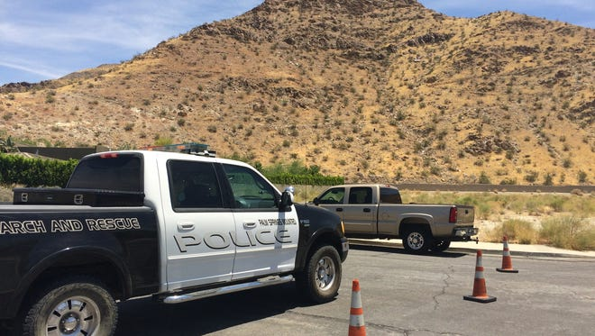 Rescue crews found an unresponsive man while looking for a missing hiker Tuesday in Palm Springs near the Bogert Trail and Barona Road.