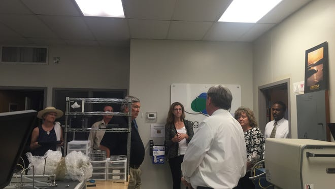 Members of the Jump Start Committee met to tour space within the Collins Building.
