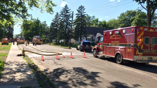 Fire crews respond to a fire that damaged a home Tuesday afternoon in Stevens Point.