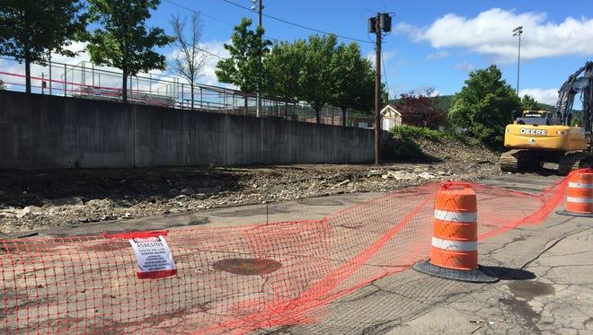 Skylark Motel was demolished on Monday.
