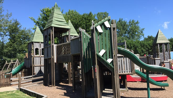 Kids Kingdom at Sunrise Park will be torn down sometime in 2019 as the city builds an underground sewer pump. Another playground will be built when the sewer work is over.