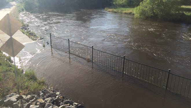 The National Weather Service has issued a flood advisory for the Poudre River into Monday.