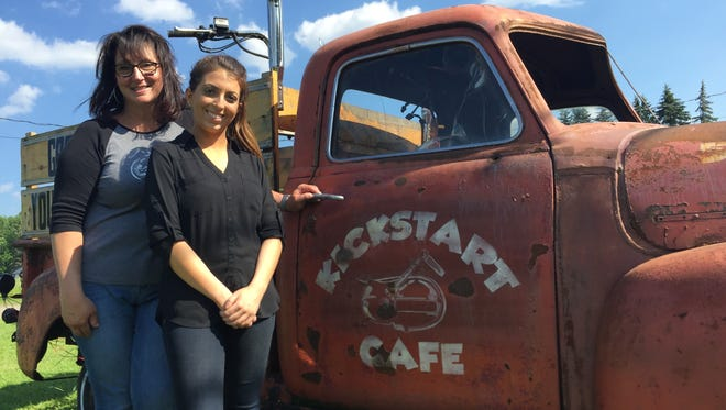 Kickstart Cafe co-owner Peg Miller will partner with Russell Farms' Allison Russell for the second Kickstart Your Community fundraiser July 12.