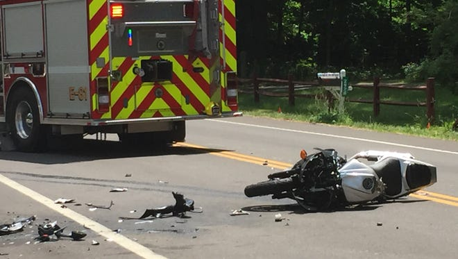 Kolin Cathers, 20, of Lucas, was injured when his motorcycle collided with a car on Tuesday on Ohio 430.