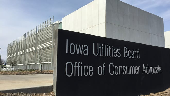 The Iowa Utilities Board's offices are located at the Iowa Capitol complex in Des Moines