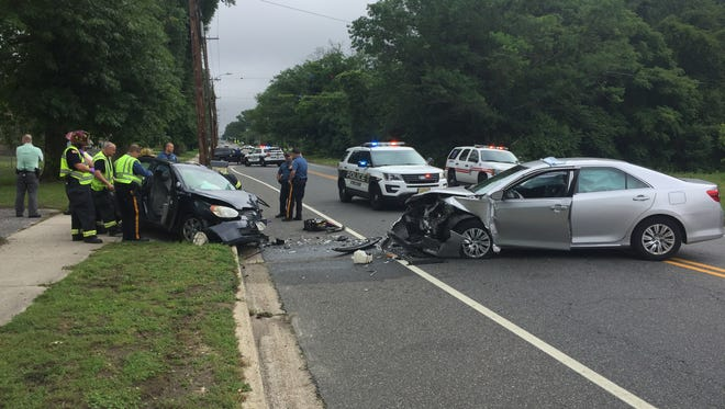 A Vineland woman was ticketed after this two-vehicle collision June 6 at Chestnut Avenue, near Highland Avenue.