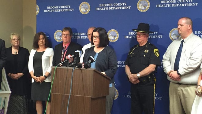 Rebecca Kaufman, Broome County director of public health, announced the findings of a child fatality report Tuesday.