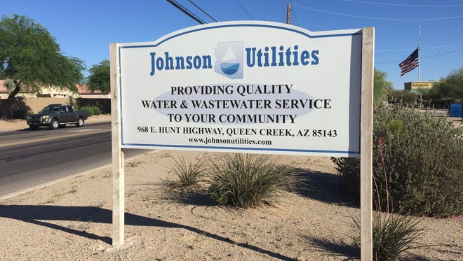 Johnson Utilities  has about 23,000 water  and 35,000 wastewater customers in Pinal County. Water company owner and founder George Johnson removed himself from the management of Johnson Utilities on May 26, 2017, to fight criminal charges.