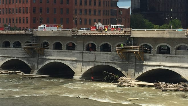The Rochester Fire Department rescued a man trapped in the Genesee River gorge on Wednesday afternoon.