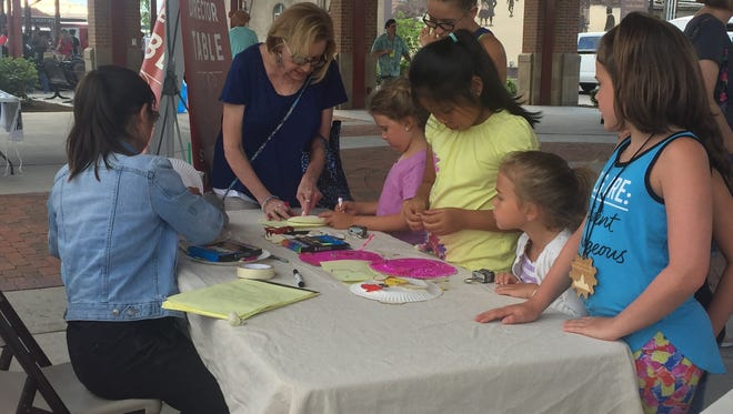 The Canal Market District is now featuring a craft table for kids at its Tuesday farmers market.