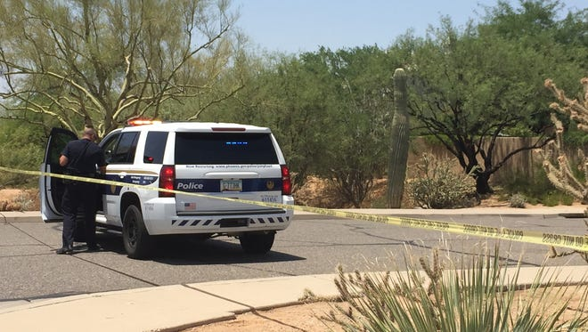 Phoenix Police evacuated residences in a Cave Creek neighborhood.