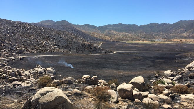 The Manzanita Wildfire burned nearly 6,000 acres south of Beaumont.