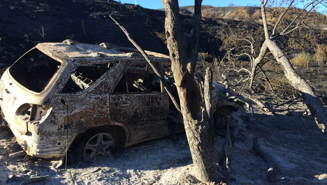 Last summer's Manzanita Fire was sparked when  a Lexus SUV crashed on Highway 79 near Beaumont. Fire officials say the threat of wildfires is high in areas surrounding the Coachella Valley due to dry conditions, strong winds and increased vegetation.